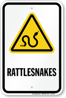 Rattlesnakes Warning Sign