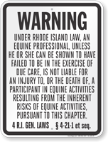 Rhode Island Equine Sign