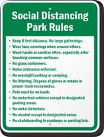 Social Distancing Park Rules Custom Sign