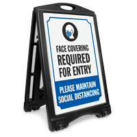 Face Covering Required for For Entry Sign Kit