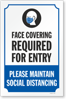 Face Covering Required for For Entry