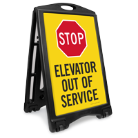 Stop Elevator Out Of Service Sidewalk Sign
