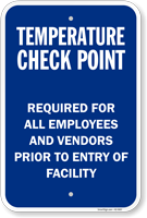 Temperature Check Point Select Your Arrow Sign