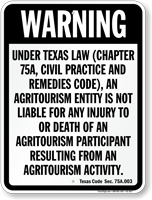 Texaschapter 75 Agritourism Sign