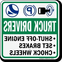 Truck Drivers Reverse Legend Sign