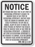 Wyoming Equine Liability Sign