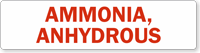 Ammonia Anhydrous Safety Label