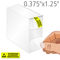 Attention Electrostatic Sensitive Devices Label Dispenser Box