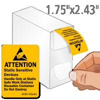 Attention Static Sensitive Devices Labels Dispenser