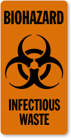 Biohazard Infectious Waste Label