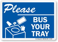 Please Bus Your Tray (with Graphic) Label