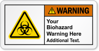 Custom Biohazard ANSI Warning Label