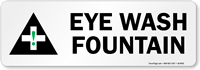 Eye Wash Fountain (With Graphic) Label