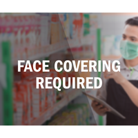 Face Covering Required Face Covering Die Cut Decal