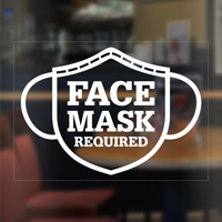Face Mask Required Social Distancing Window Decal