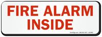 Fire Alarm Inside Label