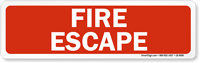 Fire Escape Label