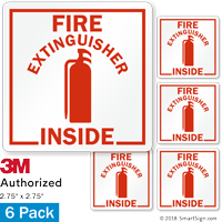 Fire Extinguisher Inside with Graphic Label