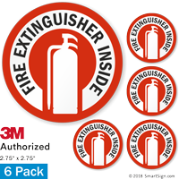 Fire Extinguisher Inside (with Graphic) Label