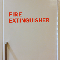 Fire Extinguisher Die Cut Glass Door Label