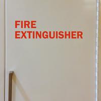 Fire Extinguisher Die Cut Glass Door Label