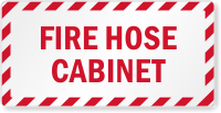 Fire Hose Cabinet Label