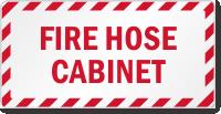 Fire Hose Cabinet Label