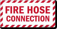 Fire Hose Connection Label
