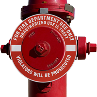 Unauthorized Use Is Theft Fire Hydrant Marker