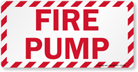 Fire Pump Label
