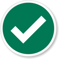 Green Tick Marking Label
