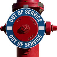 Out Of Service Fire Hydrant Marker - Blue