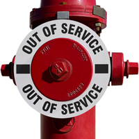 Out Of Service Fire Hydrant Marker - White