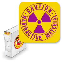 Caution Radioactive Material (with Trefoil)