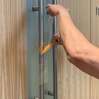 Safe Barrier Antimicrobial Stickers Medium Door Handle Wrap