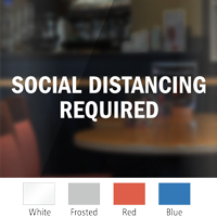Social Distancing Required Social Distancing Die Cut Window Decal