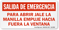 Spanish Emergency Exit Label