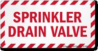 Sprinkler Drain Valve Label