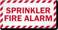 Sprinkler Fire Alarm Label