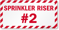 Sprinkler Riser #2 Emergency Label