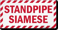 Standpipe Siamese Label
