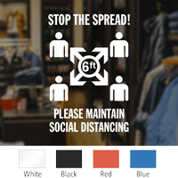 Stop The Spread Please Maintain Social Distancing Social Distancing Die Cut Window Decal