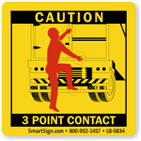 3 Point Contact Labels - Trailer Swing Doors