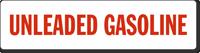 Unleaded Gasoline Safety Label