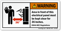 Foot Clearance Electrical Panel on