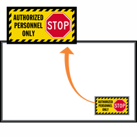 Authorized Personnel Only Stop WaterHog Sign Mat