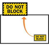 Do Not Block Sign Mat with Striped Border