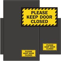 Please Keep Door Closed Sign Mat