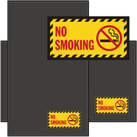 No Smoking with Smoking Prohibited Graphic Sign Mat
