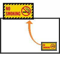 No Smoking with Smoking Prohibited Graphic Sign Mat